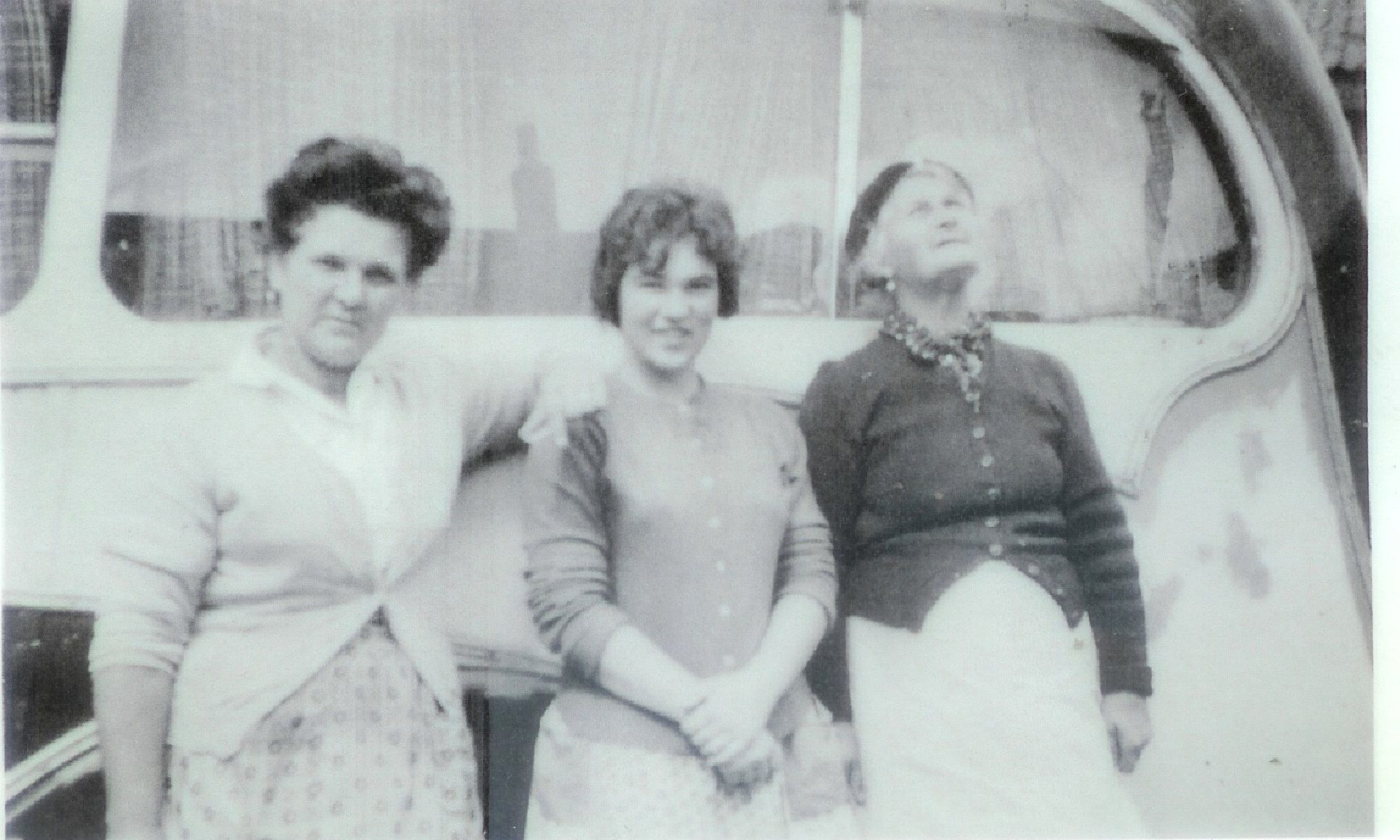 Jess in the middle, with her mum, left, and her mums friend.