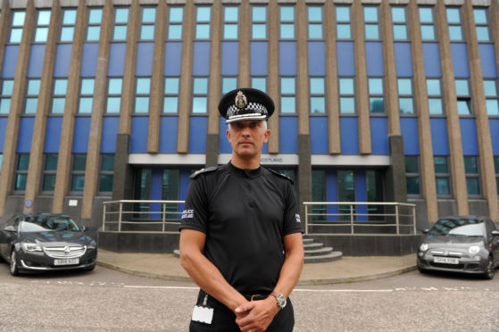 Chief Superintendent Paul Anderson in Dundee.