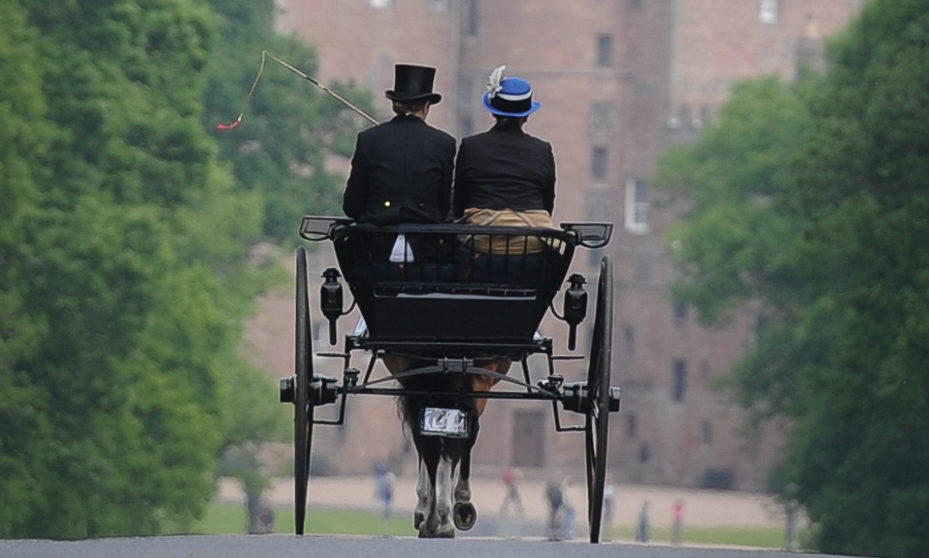 A carriage driving challenge at Glamis Castle in June 2018.