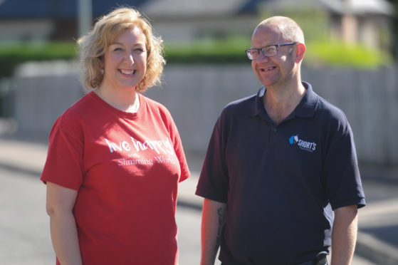 Gill Carter (Slimming World Consultant) and Craig Lutton at home