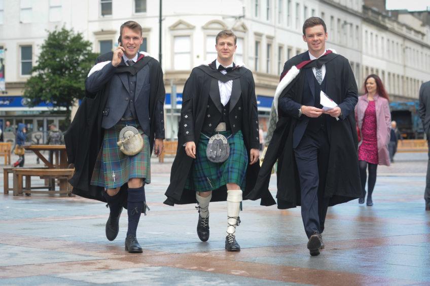 Graduates Mark Rankin, Neil Marshall and Craig Noteman