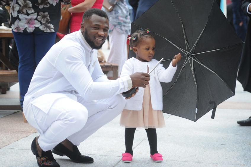 Musa Kolo (Computer Science graduate) and his niece Bene Ahmed