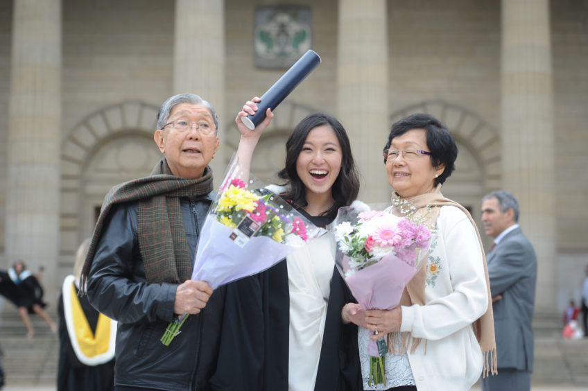 Loke Soon Chuan (grandfather), Stephanie Loke and Jenny Nga (grandmother)