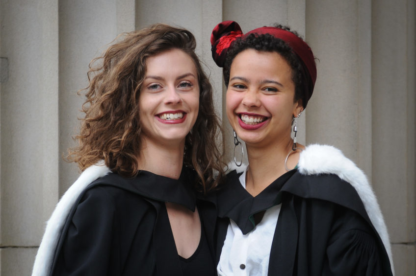 Nicole Cumming (Fine Art Degree) and Saoirse Anis (Art and Philosophy Degree).