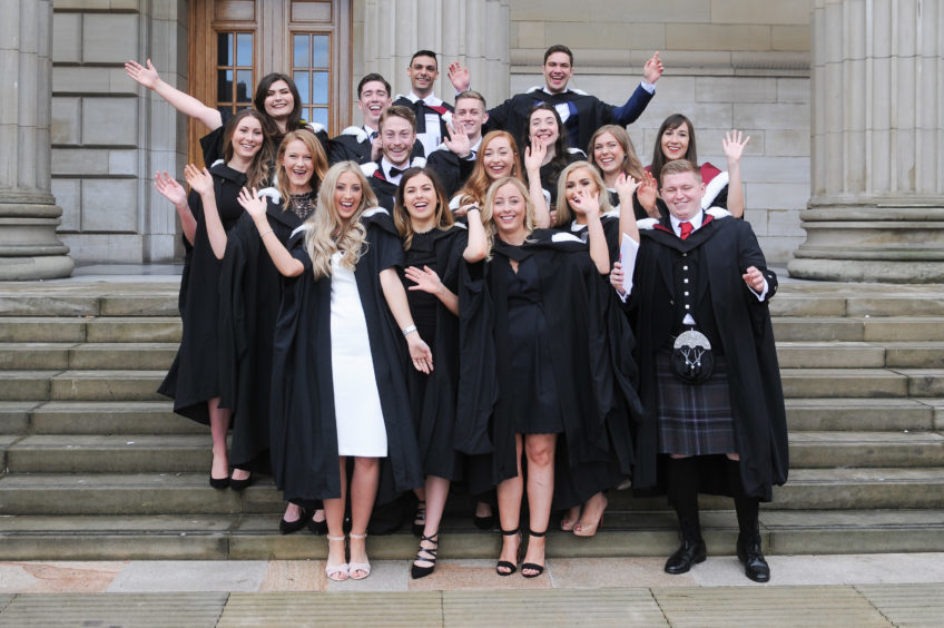 Dentistry students celebrate their graduation