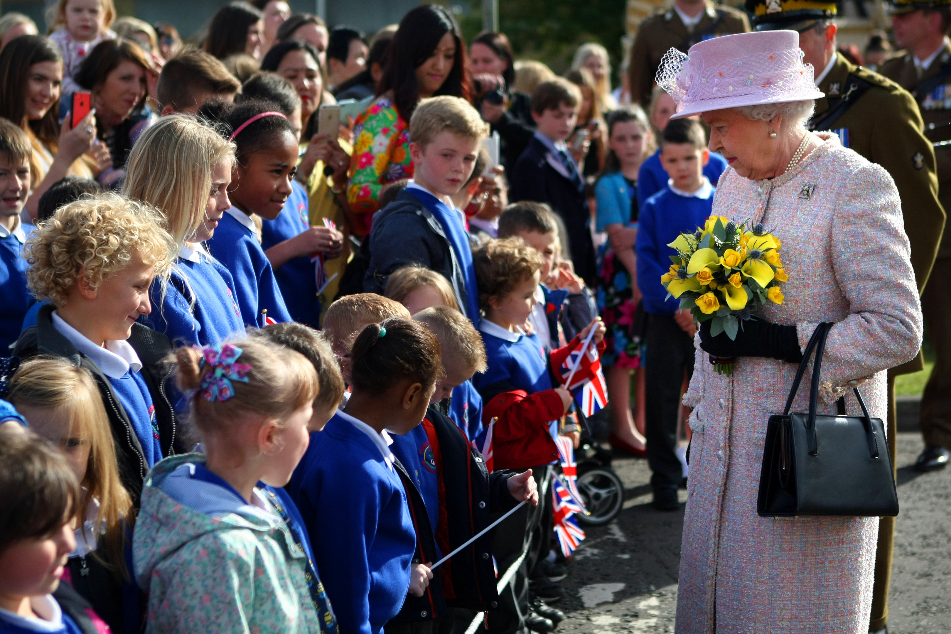 The Queen on her last visit to Leuchars.