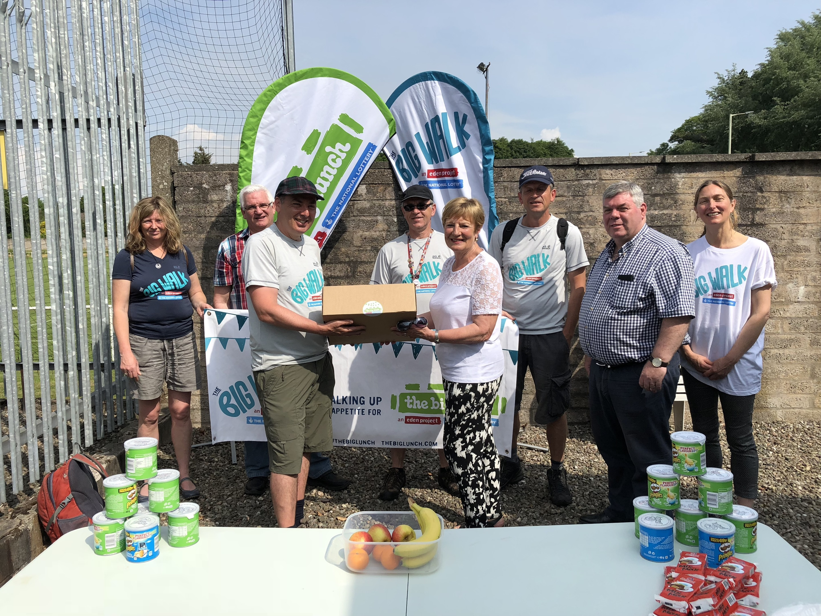 Angus Councillor Lynne Devine at the Forfar Foodbank during The Big Walk.