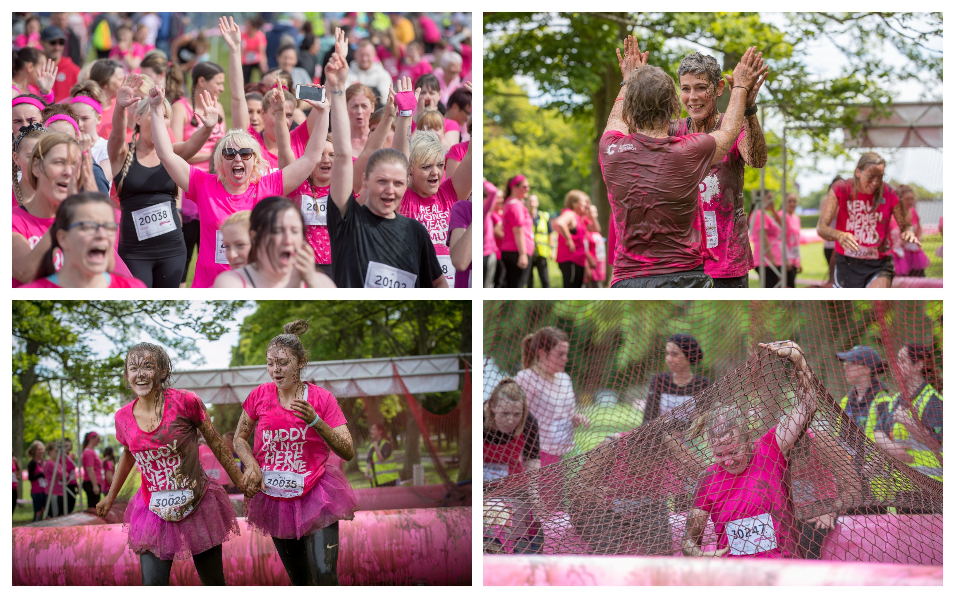 The Pretty Muddy run is part of the Race for Life.