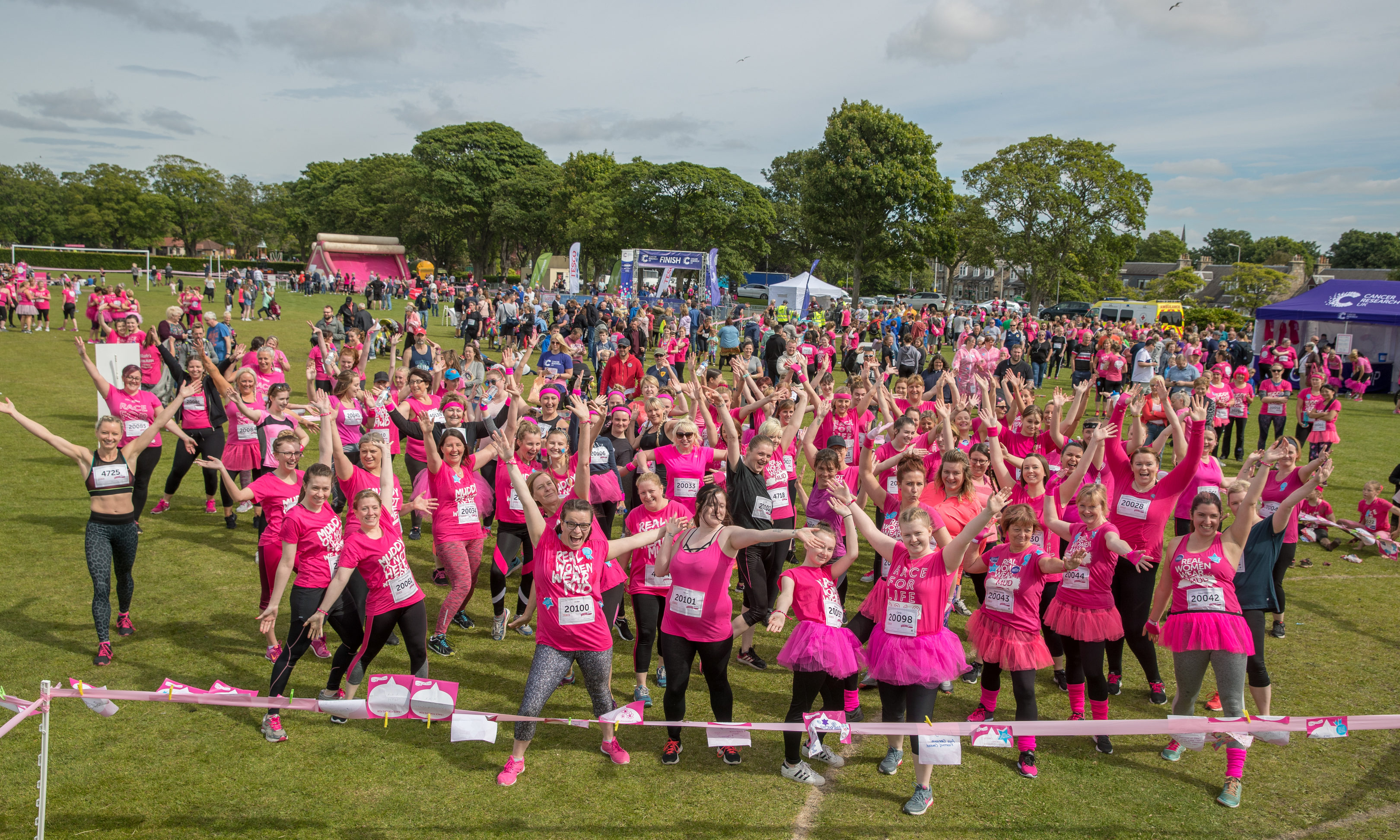 Competitors in last year's Race for Life in Kirkcaldy.