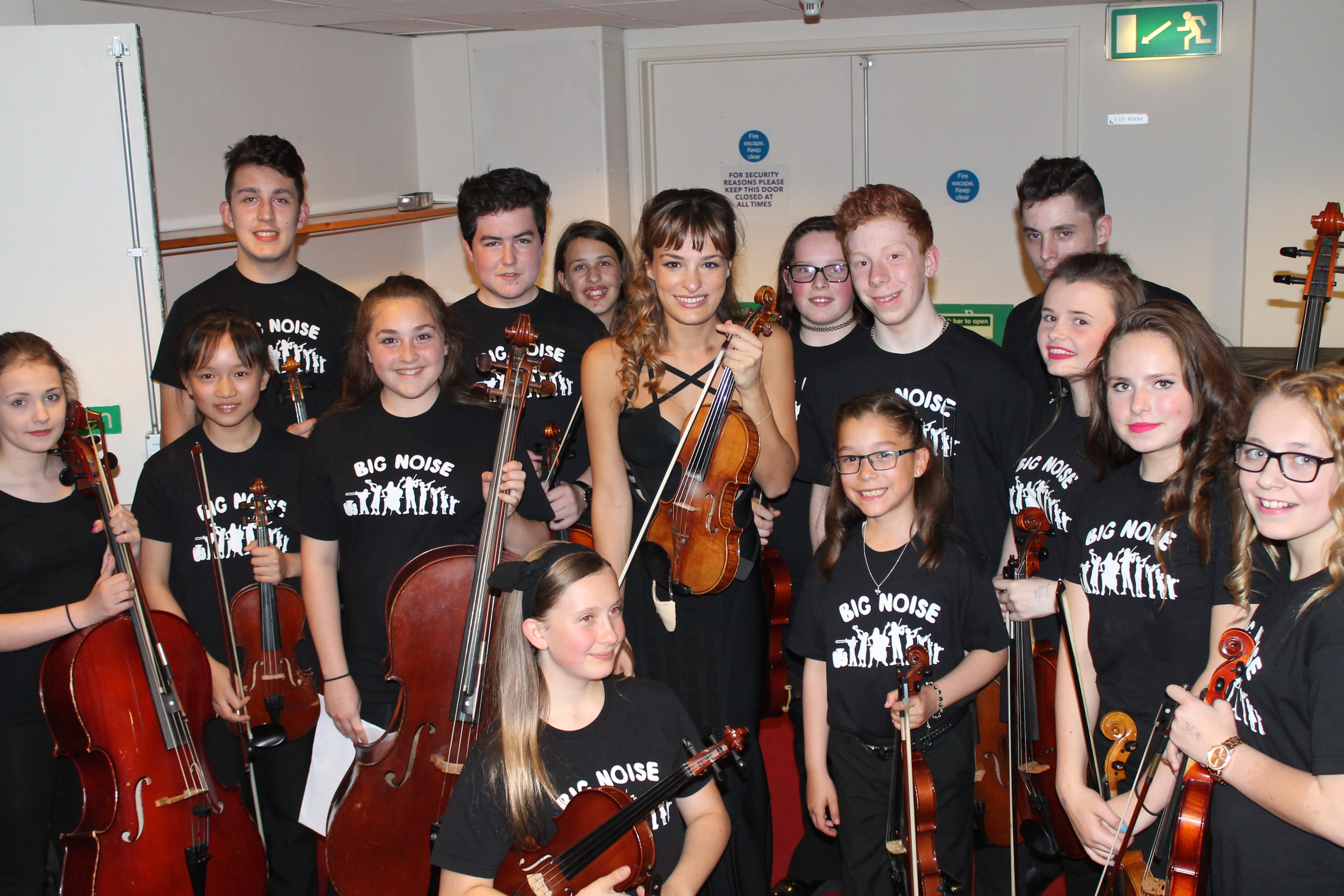 Nicola Benedetti and members of Big Noise Raploch in 2015.
