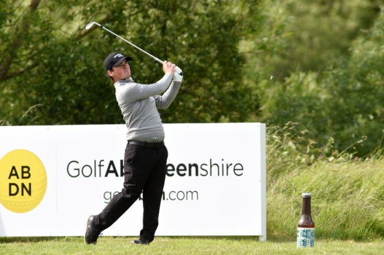Craig Lawrie is two rounds away from being at The Open.  Picture by KENNY ELRICK     15/06/2018