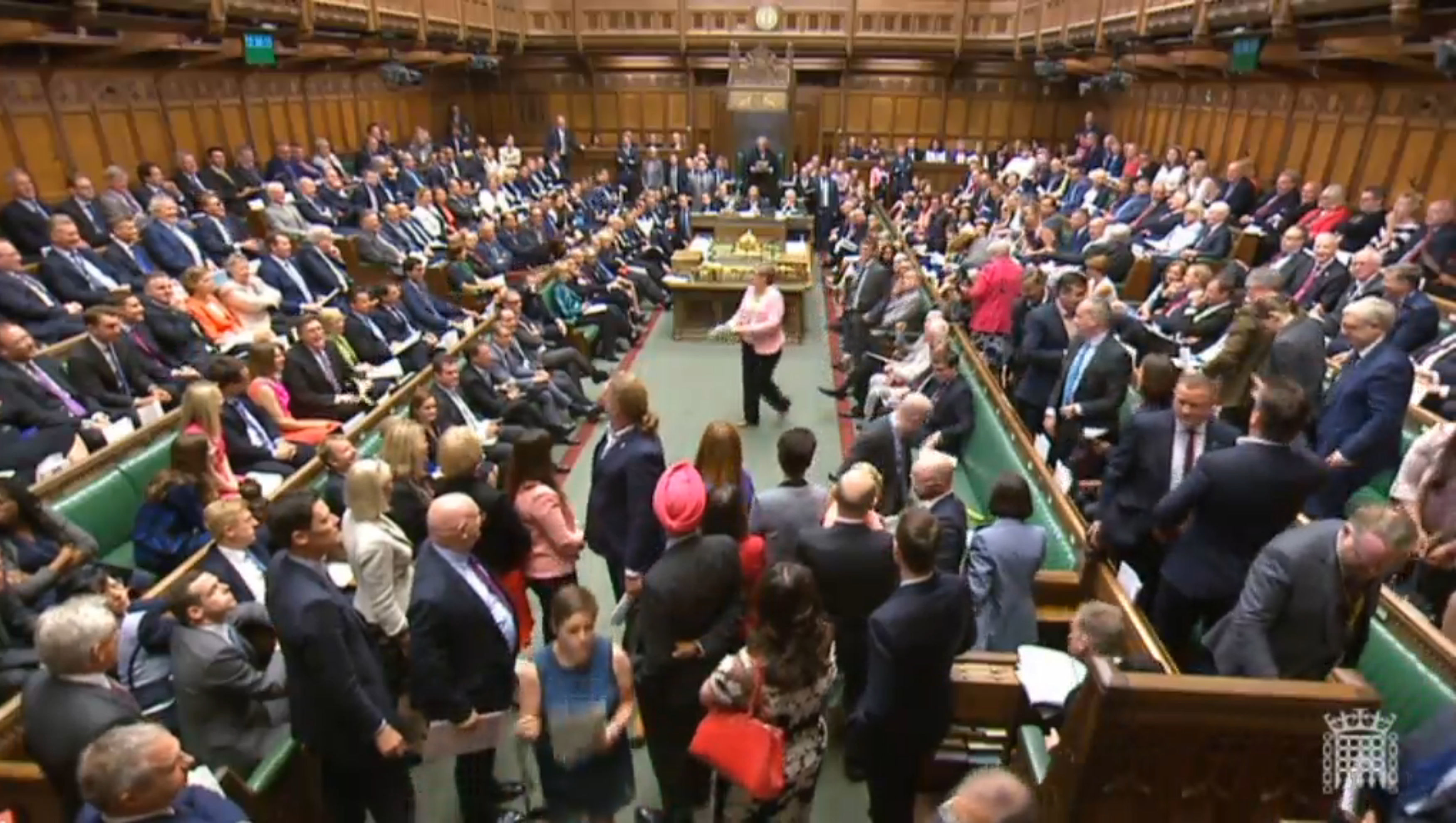 SNP MPs walk out in extraordinary scenes at PMQs.