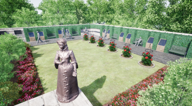 An impression of how the garden will look.