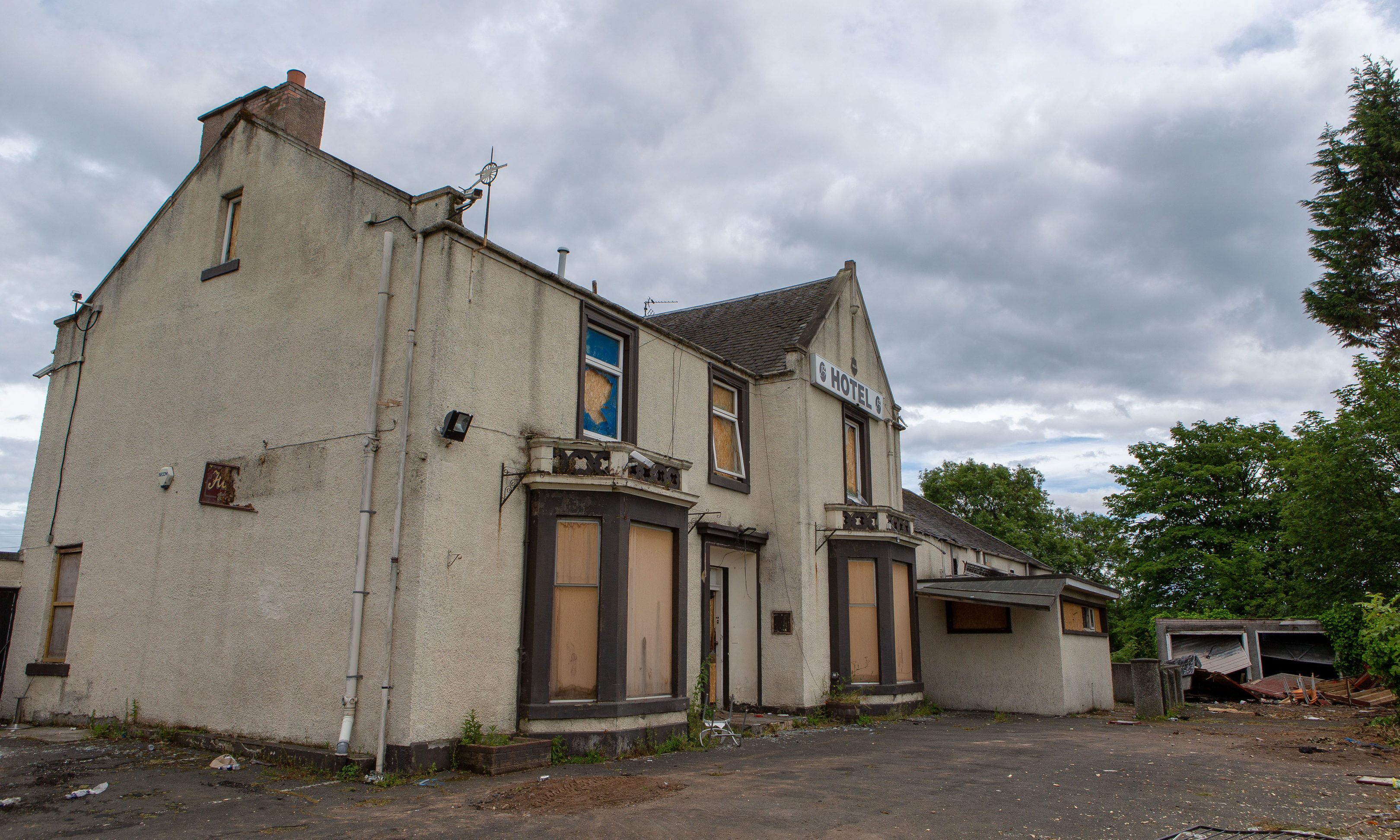 Brannigans Hotel was demolished after being targeted by fire raisers.