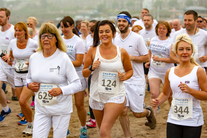 The annual Chariots of Fire run proves a huge draw each year. Action from the 2017 run.