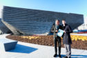 John Alexander with V&A Dundee architect Kengo Kuma