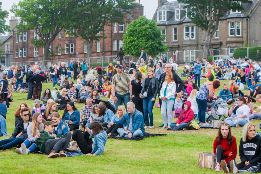 Crowds at Magdalen Green for WestFest.