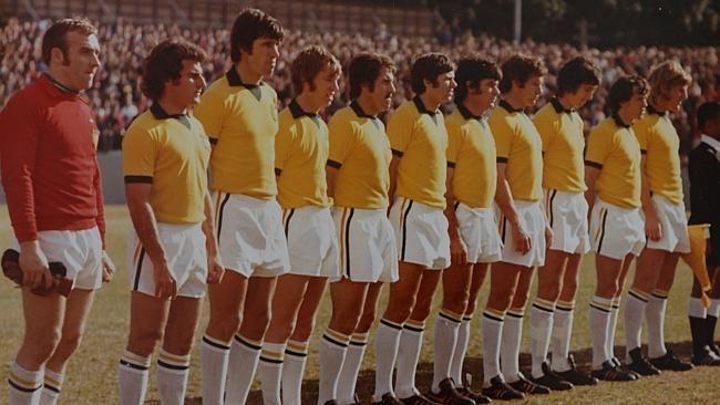 The Australia team in 1974.