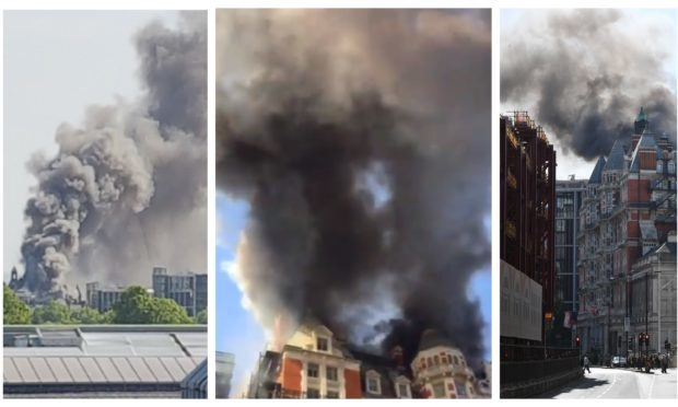 The fire in London