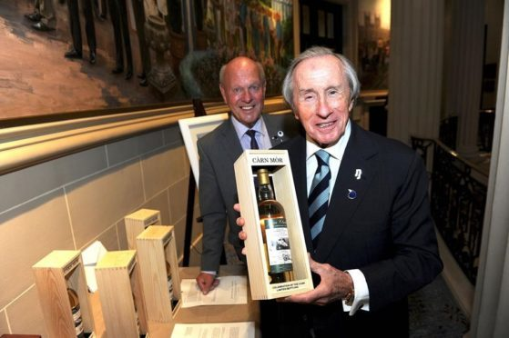 Three-time F1 World Champion Sir Jackie Stewart with Jim Clark Trust trustee and Clark's cousin Doug Niven.