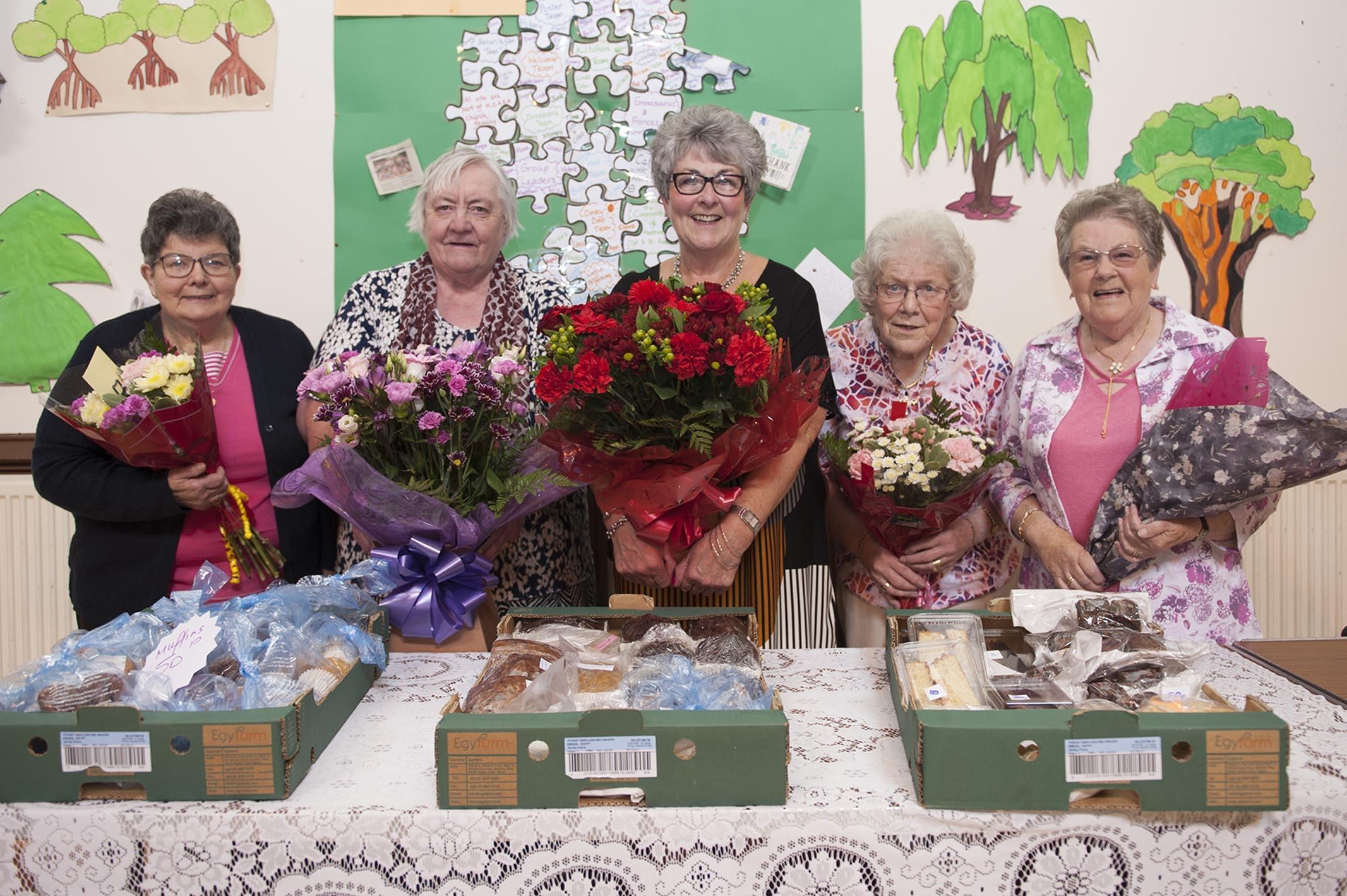 Isabell Fowlie, Iris Mair, Ann Thomson, Betty Watson and Helen Anderson.