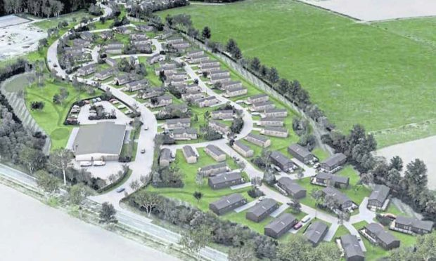 An artist's impression of the development on six hectares of land at Northbank Farm off the A915 between Largoward and St Andrews.