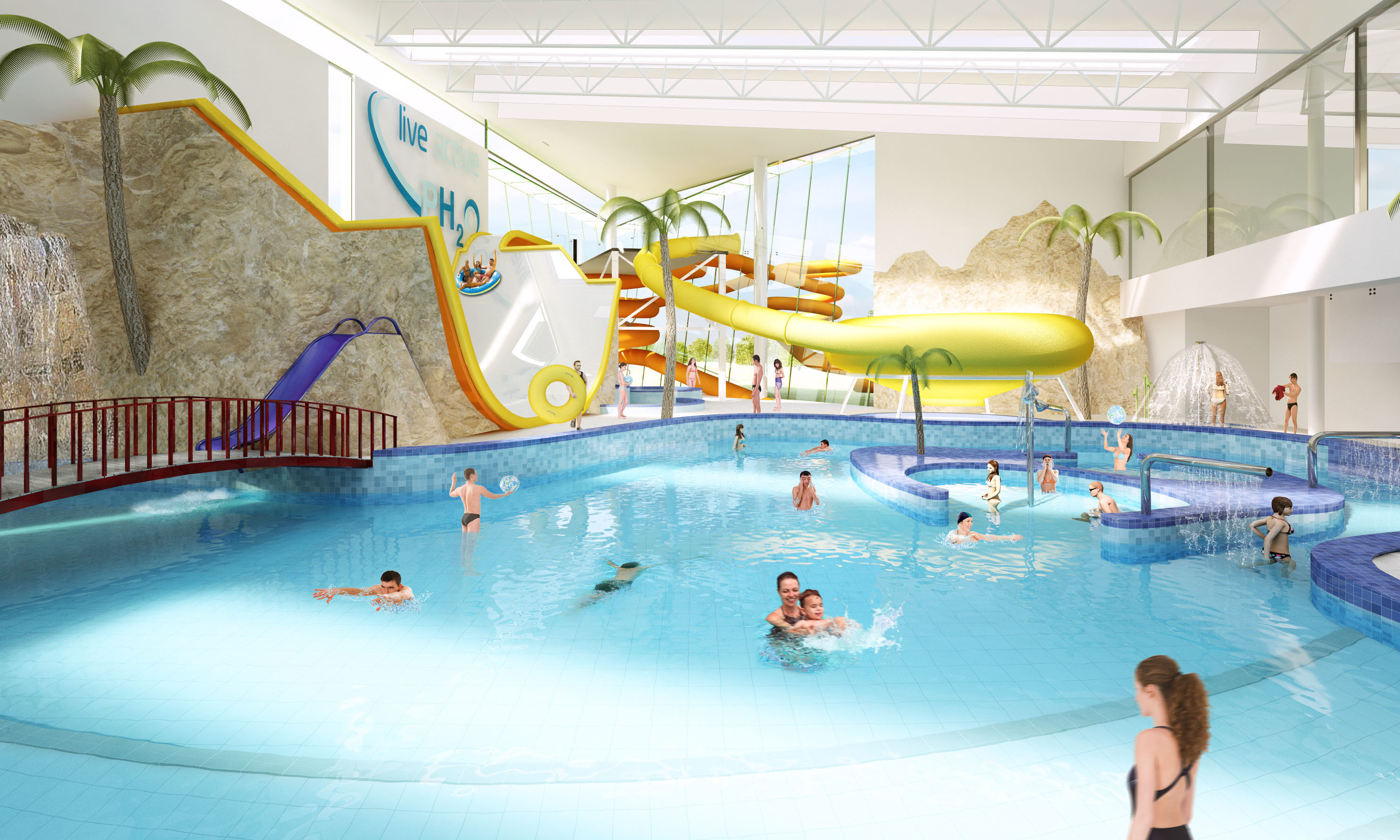 An artist's impression of the new look Perth pool, as part of the ambitious PH20 project.