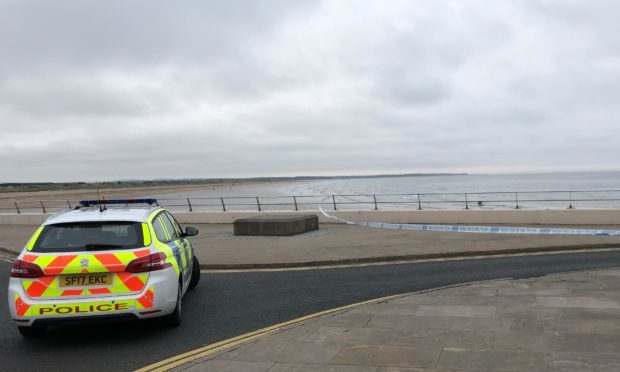 Police at West Sands