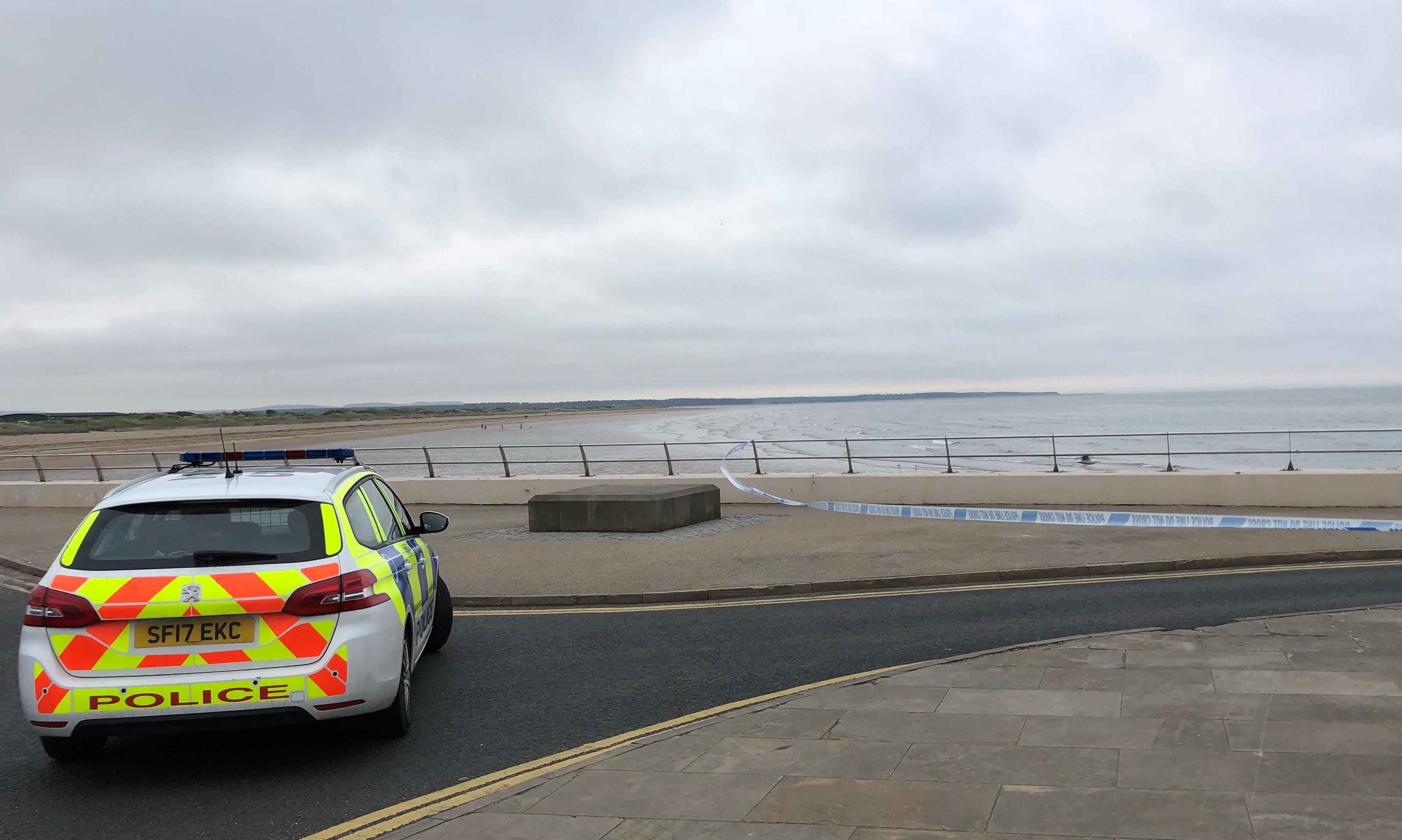 Police at West Sands