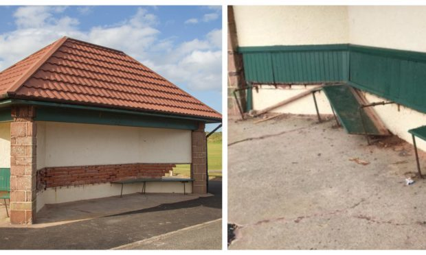 Victoria Park Pavilion has been vandalised