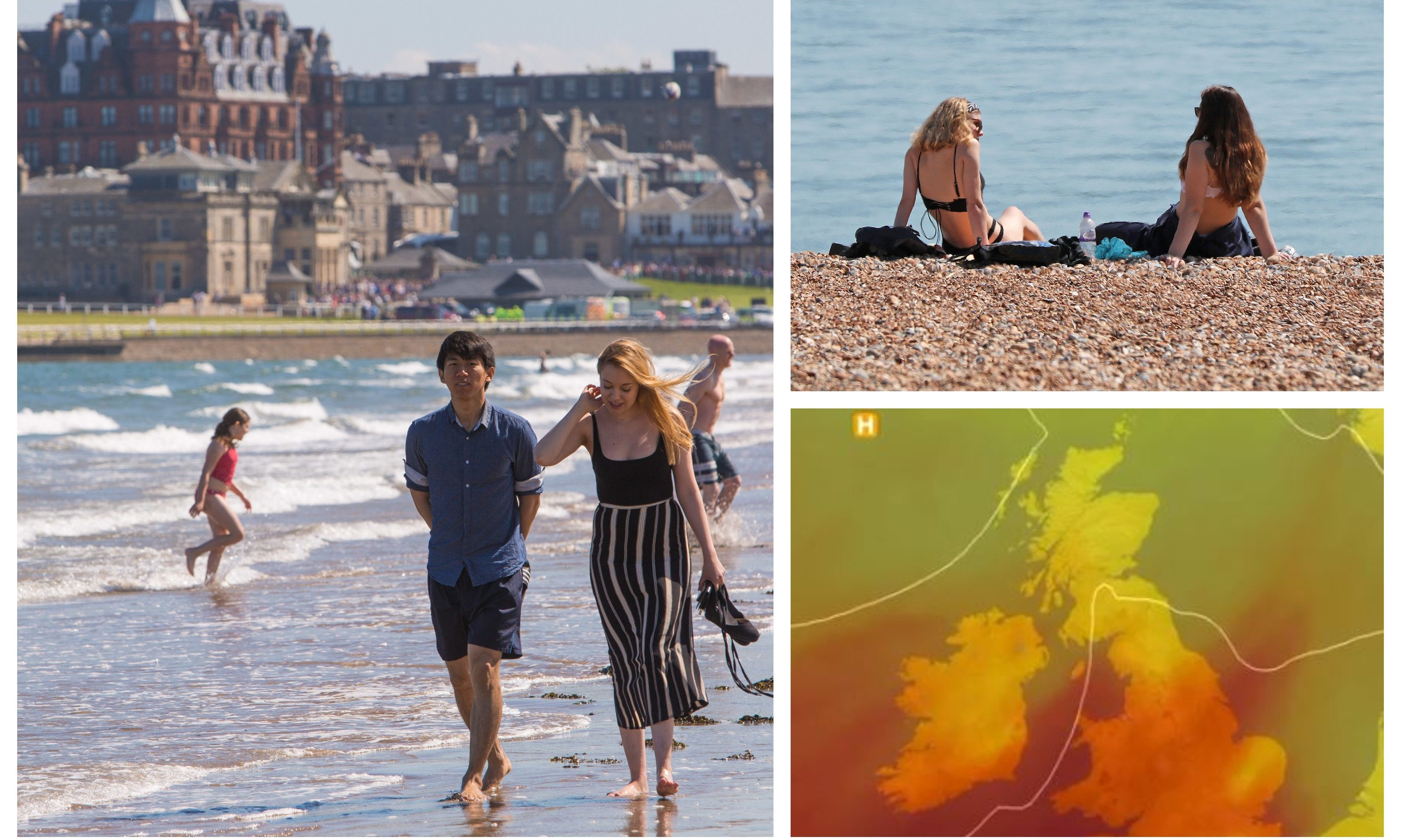 Hot weather will hit Scotland later this week.