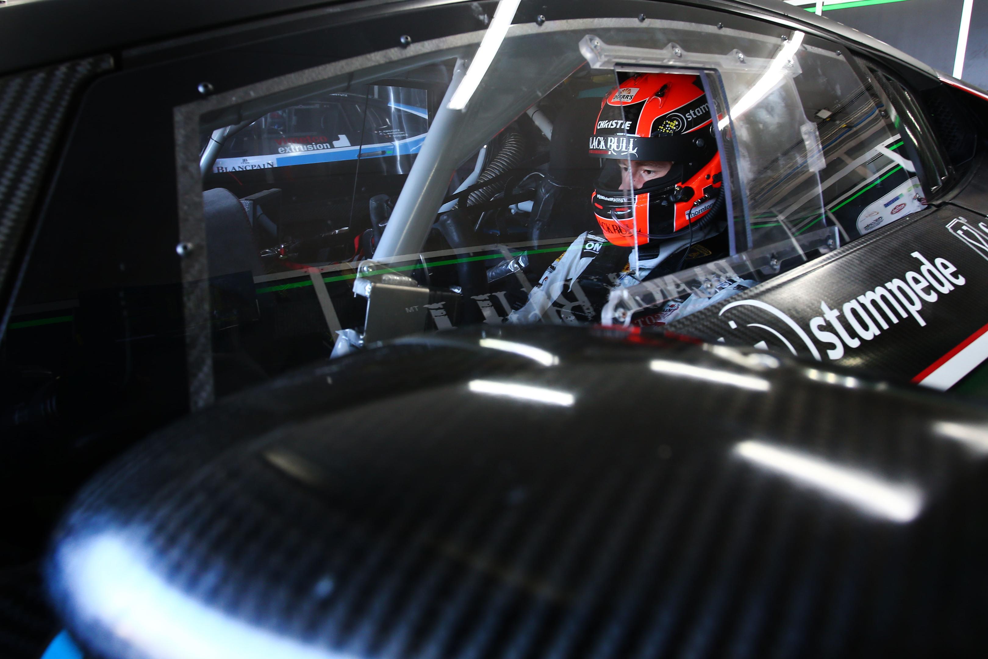 Sandy Mitchell in the Lamborghini Huracan GT3