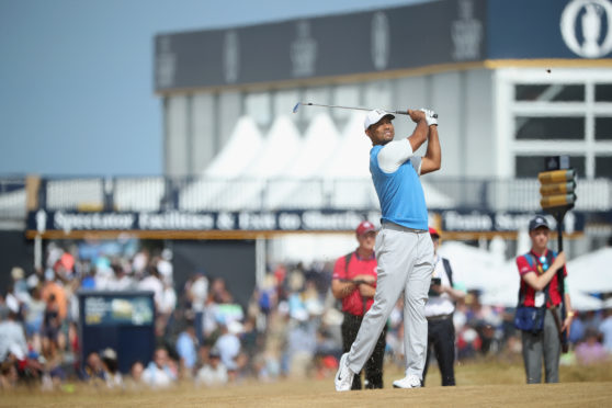Tiger Woods shot two-under on the front nine, but finished with a par 71.