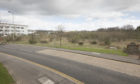 Site of planned filling station, drive-through and retail unit for Orchardbank Business Park at Forfar.