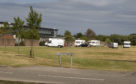 Some of the travellers moved on to an area near the East Links medical centre.