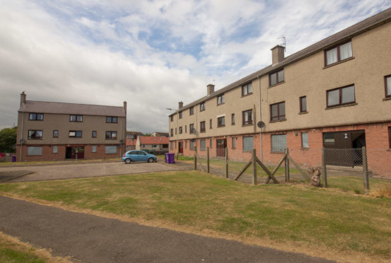 Housing at Timmergreens in Arbroath is one of the council's regeneration projects.