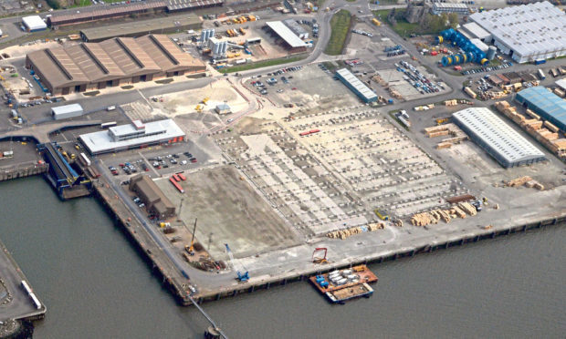 The site at the Port of Rosyth that will become the purpose built Cefetra facility.
