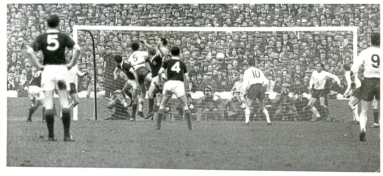 Alan Gilzean's winning header for Scotland against England.