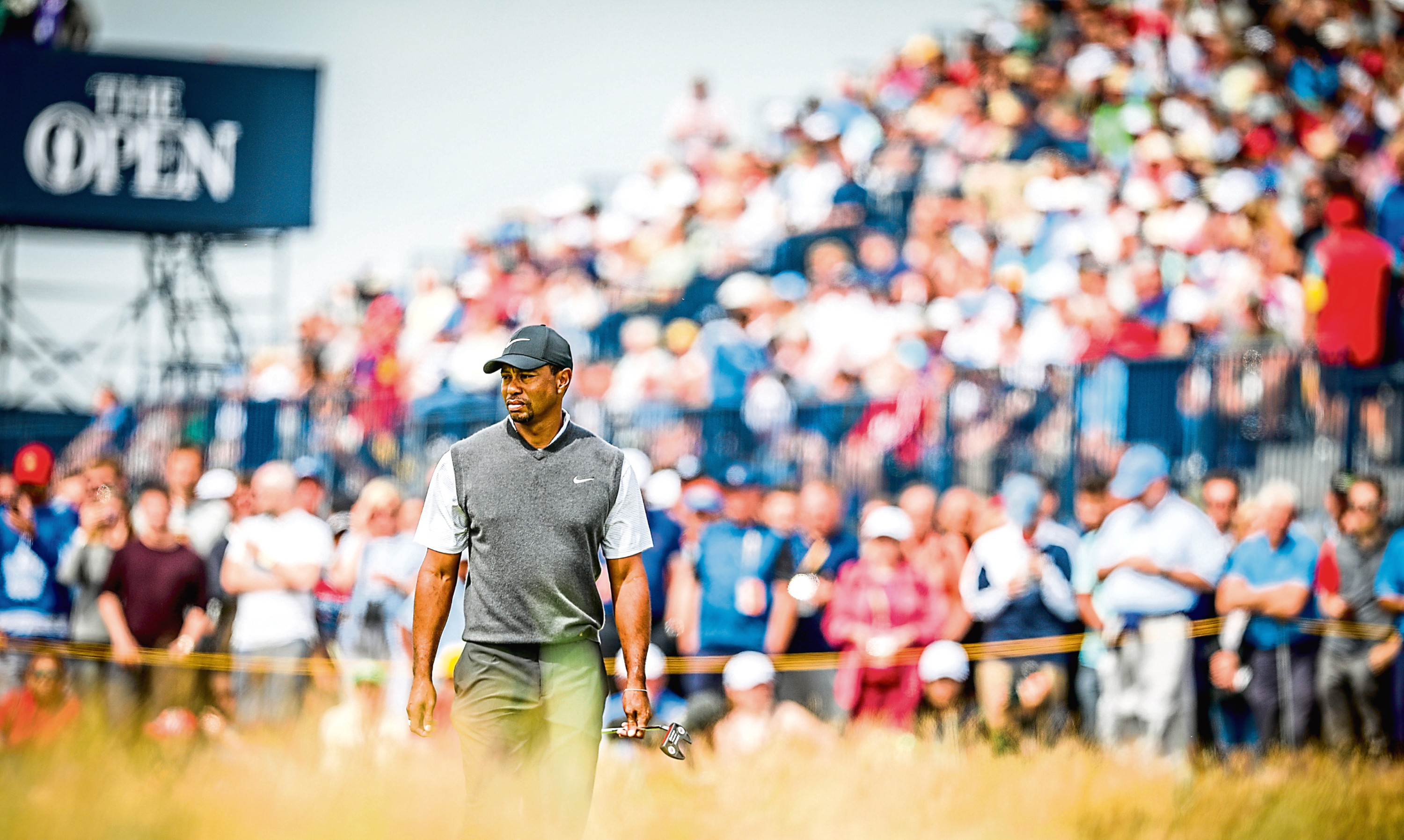 Tens of thousands of golf fans descended on Carnoustie to see global superstars such as Tiger Woods on the course.