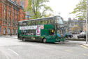 Xplore Dundee was forced to cancel services because of driver shortages