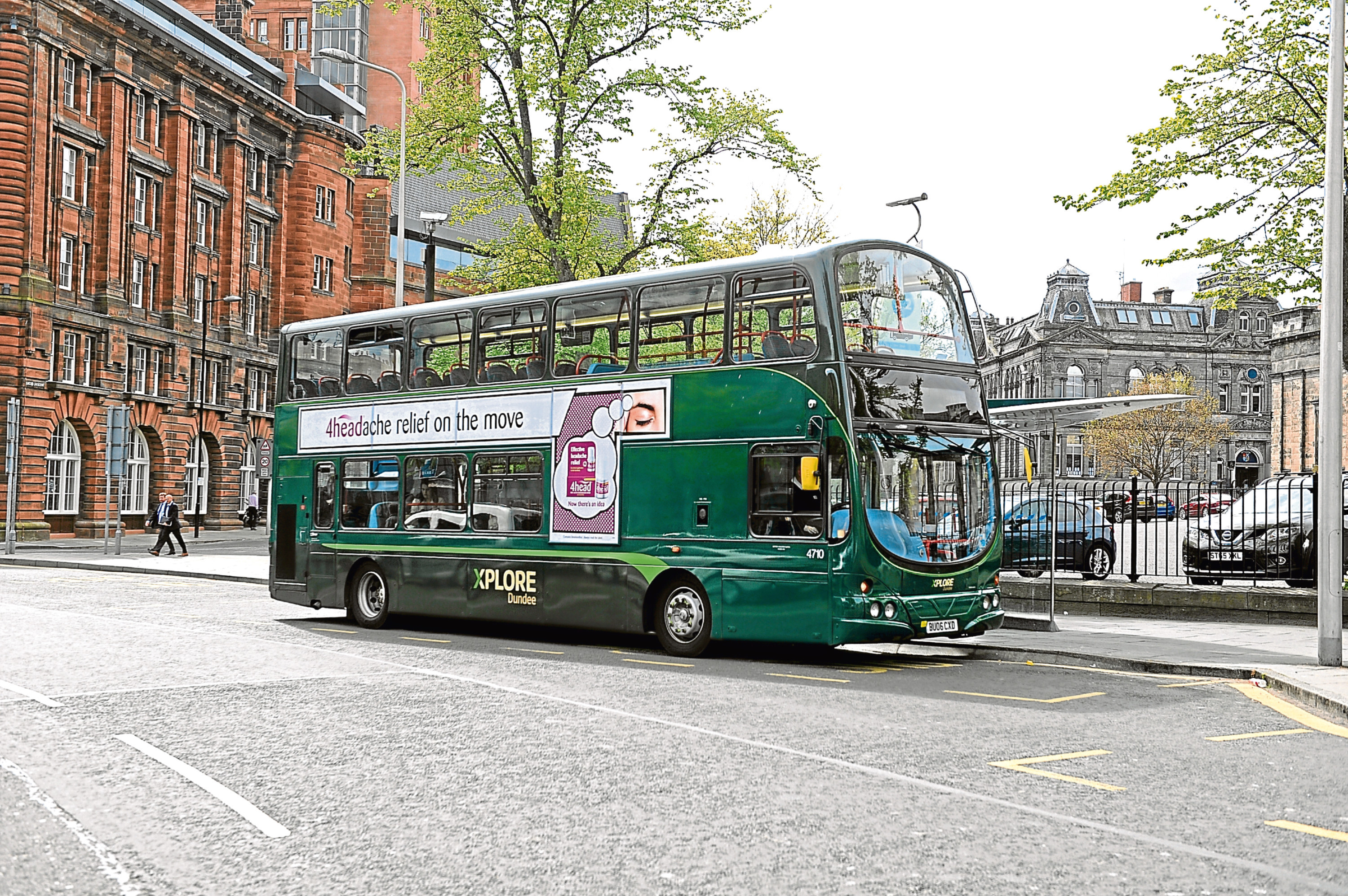 An Xplore Dundee bus in the city centre