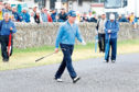 Tom Watson on the Road Hole during his final round at the Senior Open.