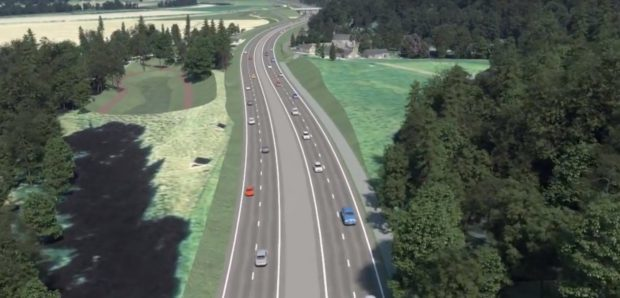 How the Tay Crossing to Ballinluig section could look once dualling project is completed.