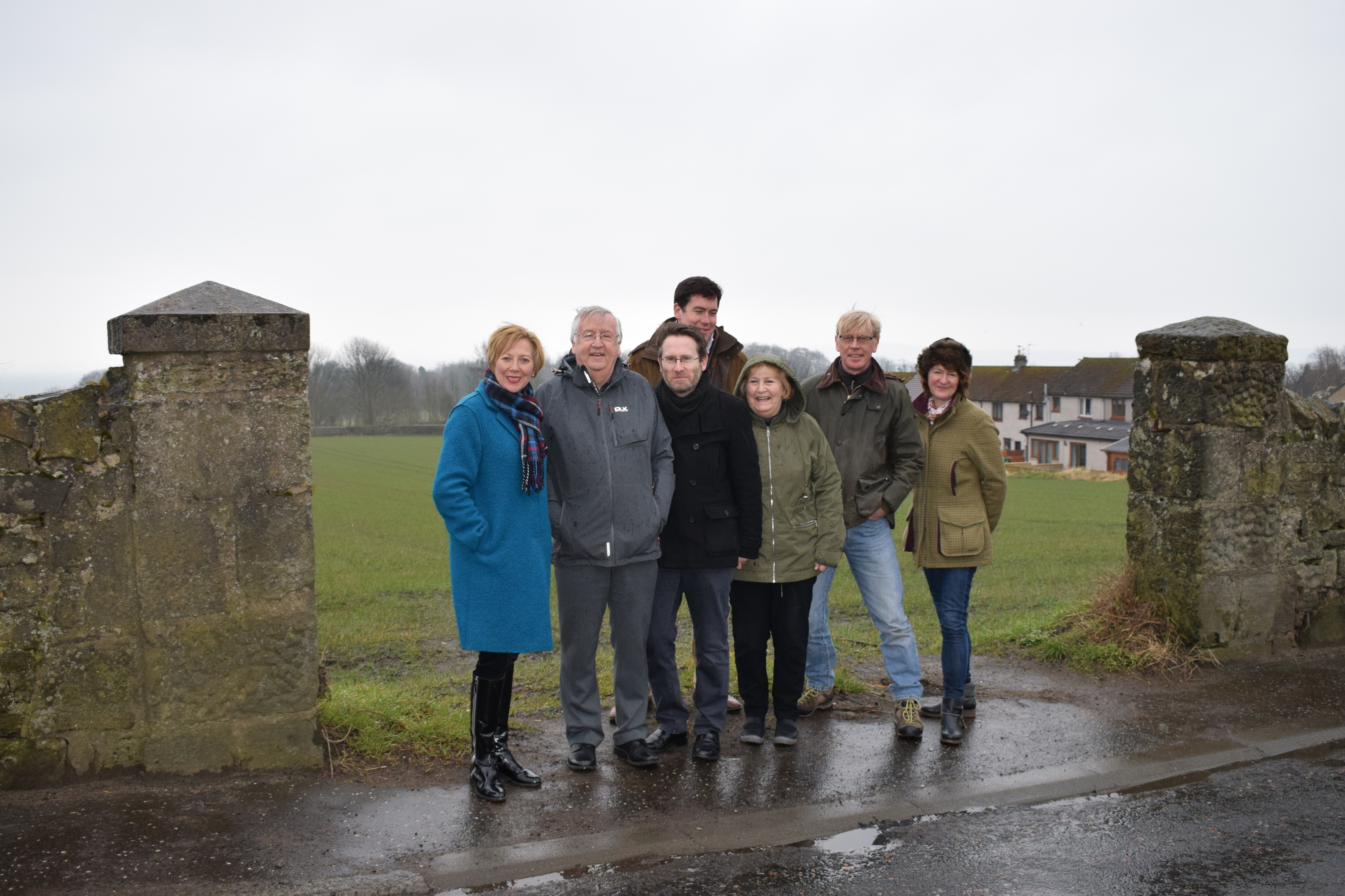 Lesley Laird MP, left, with Aberdour residents.