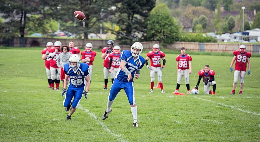 The Dundee Hurricanes in action.