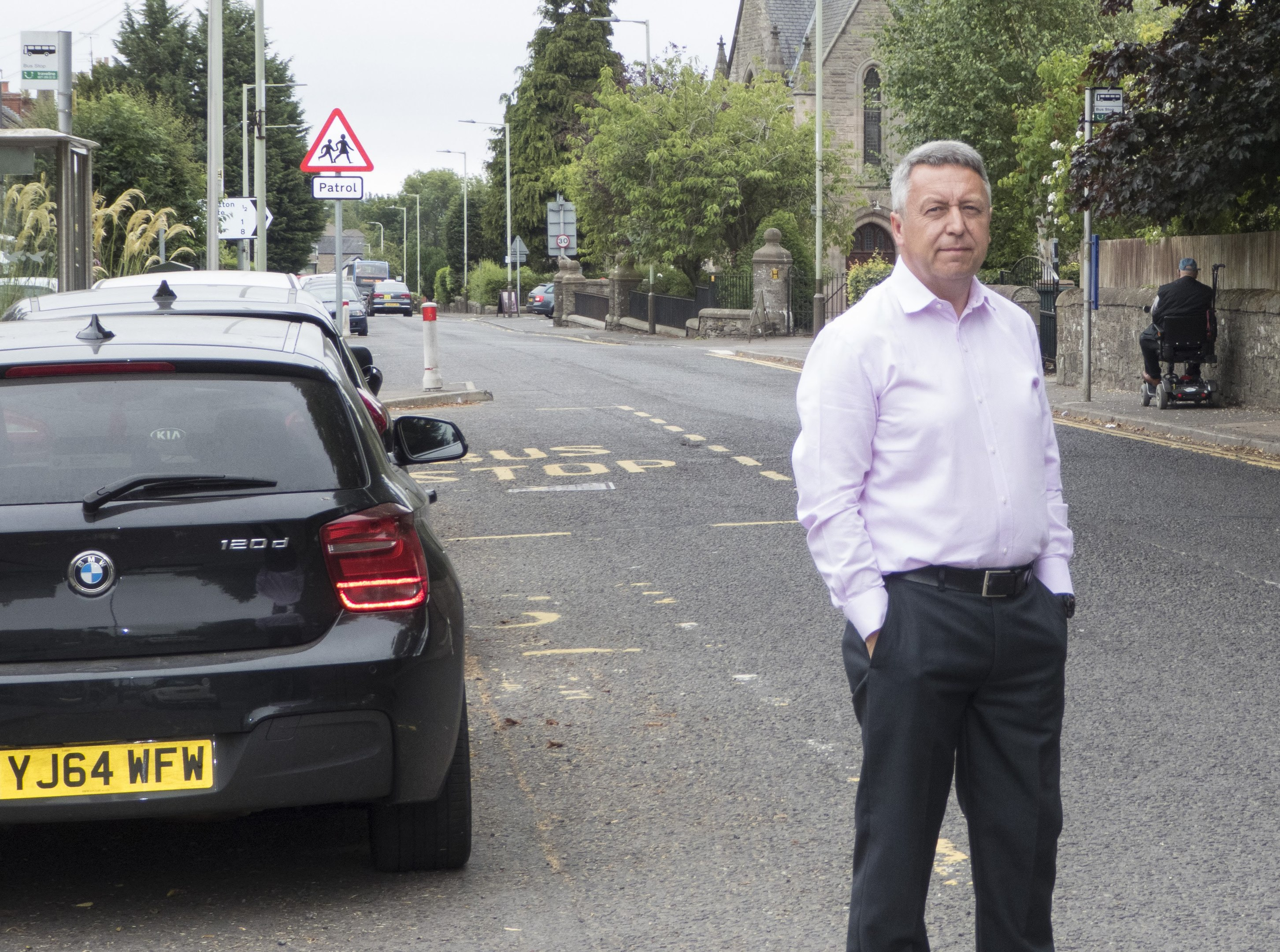 Councillor Angus Forbes wants more safety measures in Invergowrie.