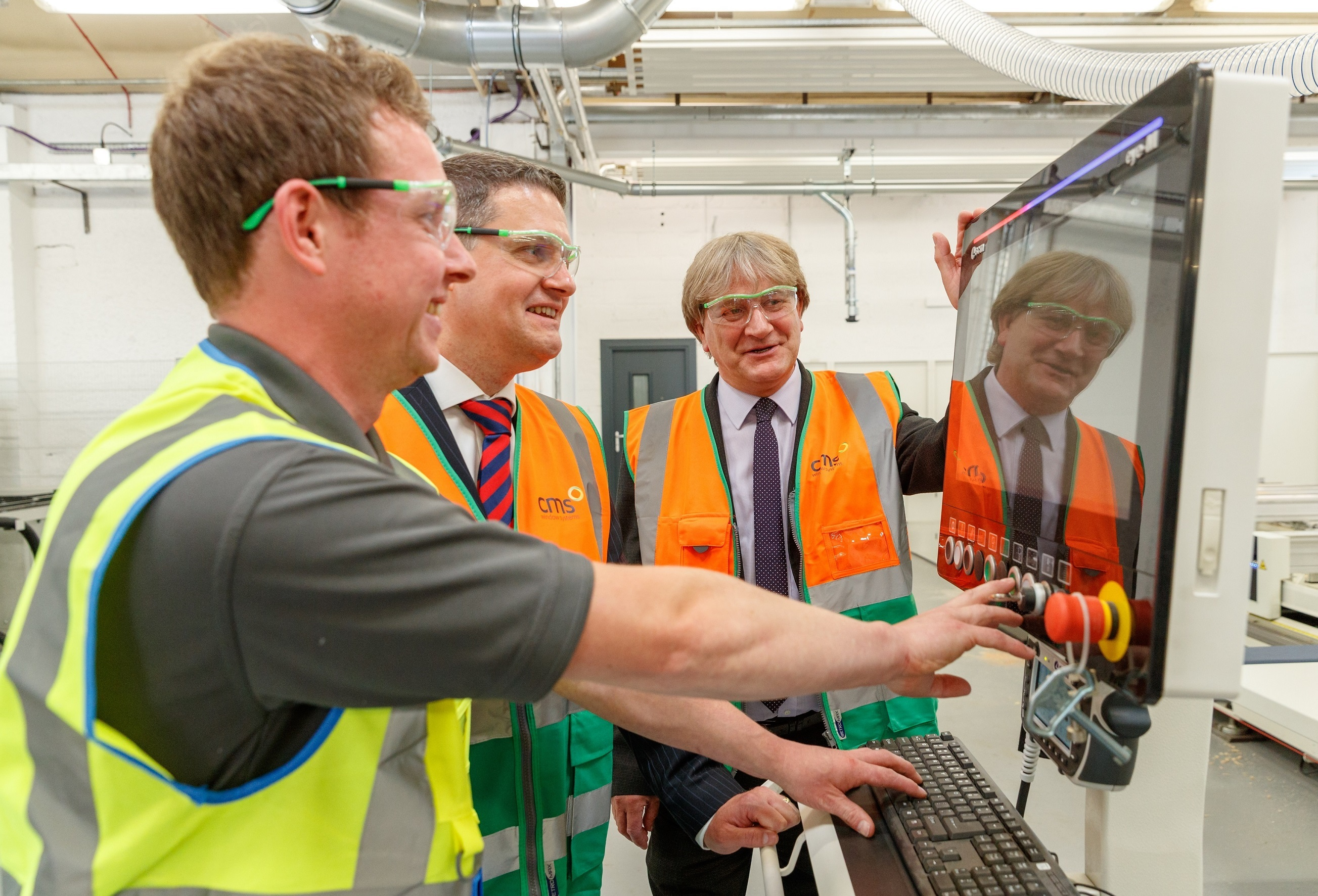 The official opening ceremony of the CMS Window Systems Hayfield Factory in the Hayfield Industrial Estate in Kirkcaldy last month. It's hoped the new programme will help many more businesses flourish.