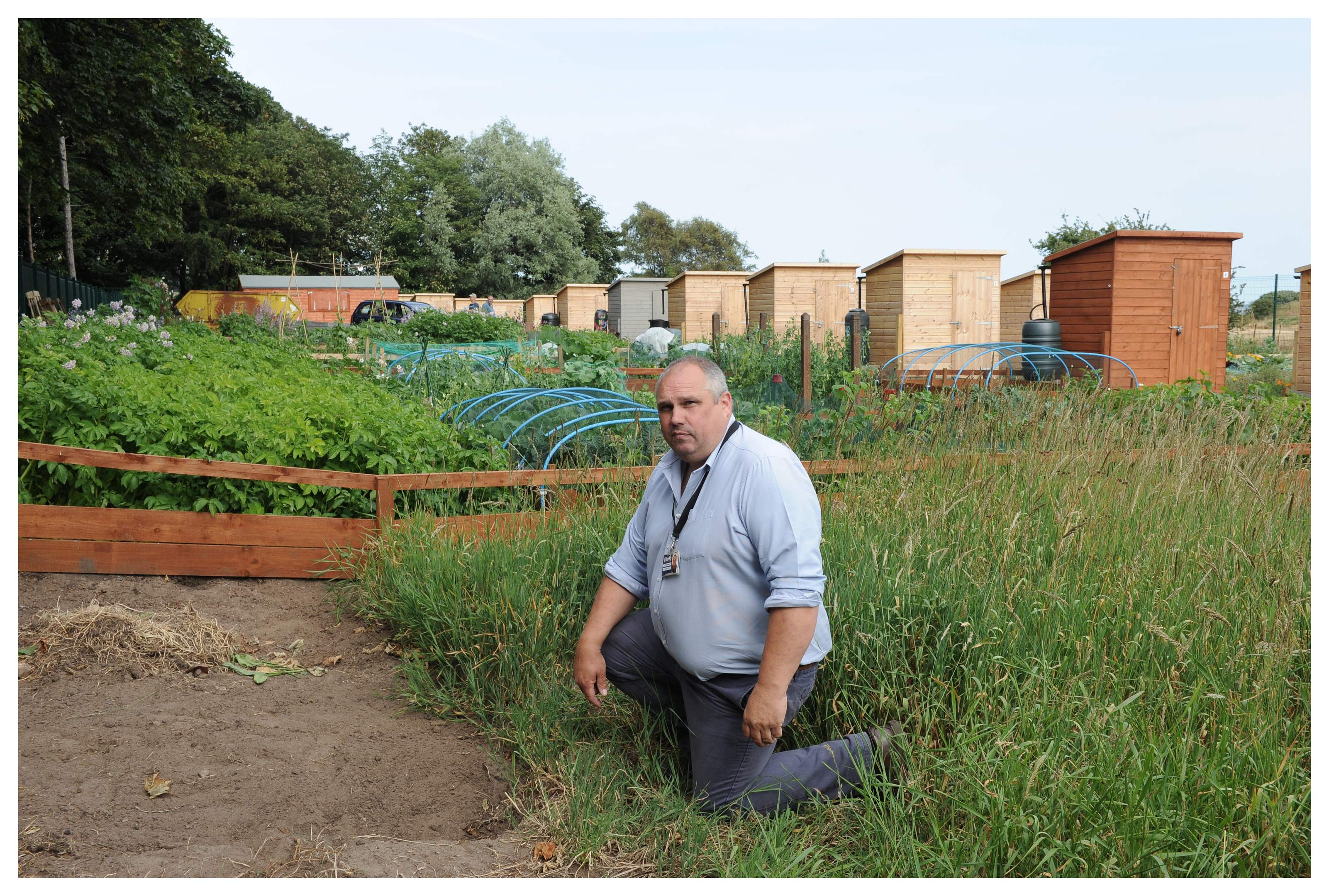 Allotment Officer Peter Duncan..