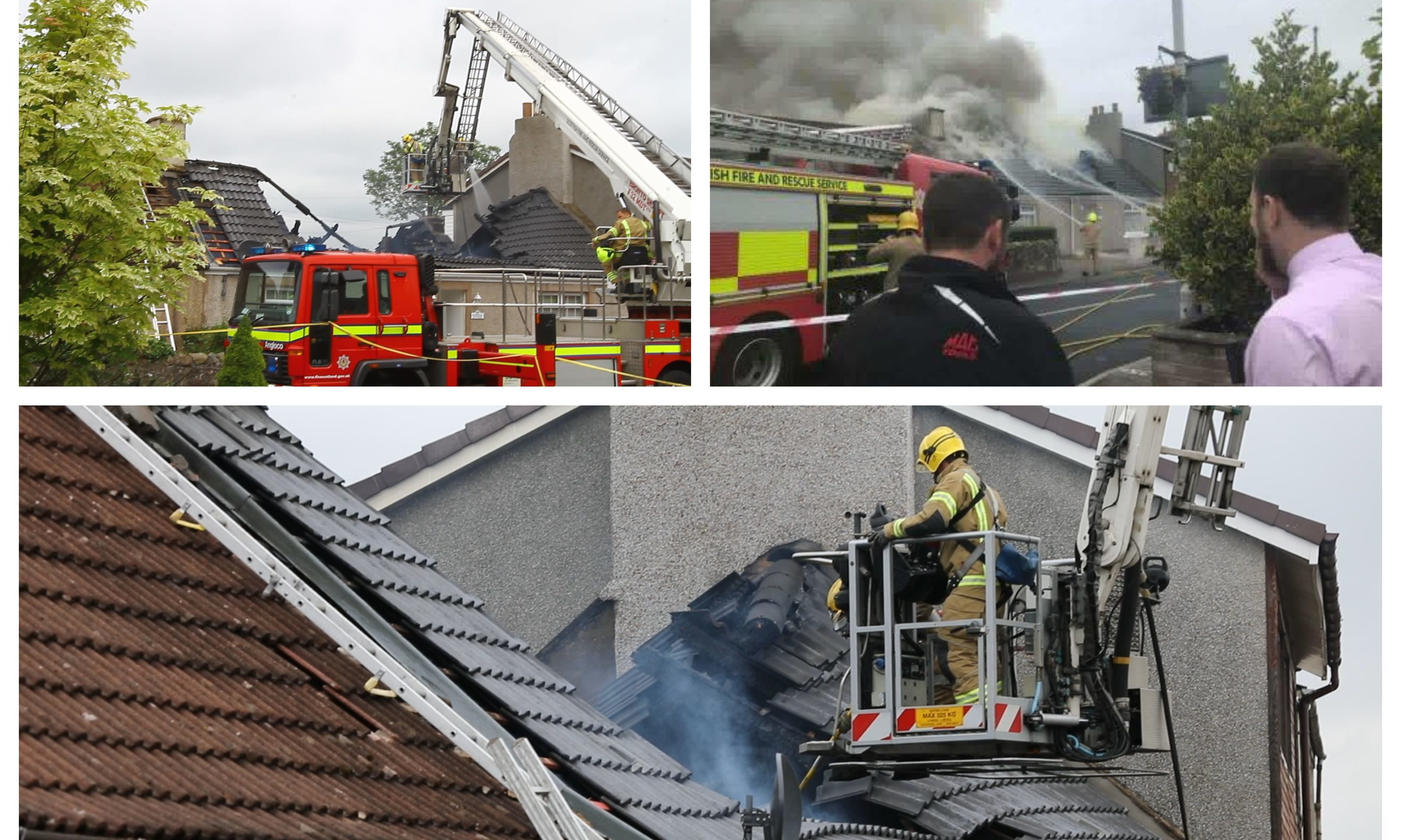 Firefighters tackle the Coaltown of Balgonie house blaze.