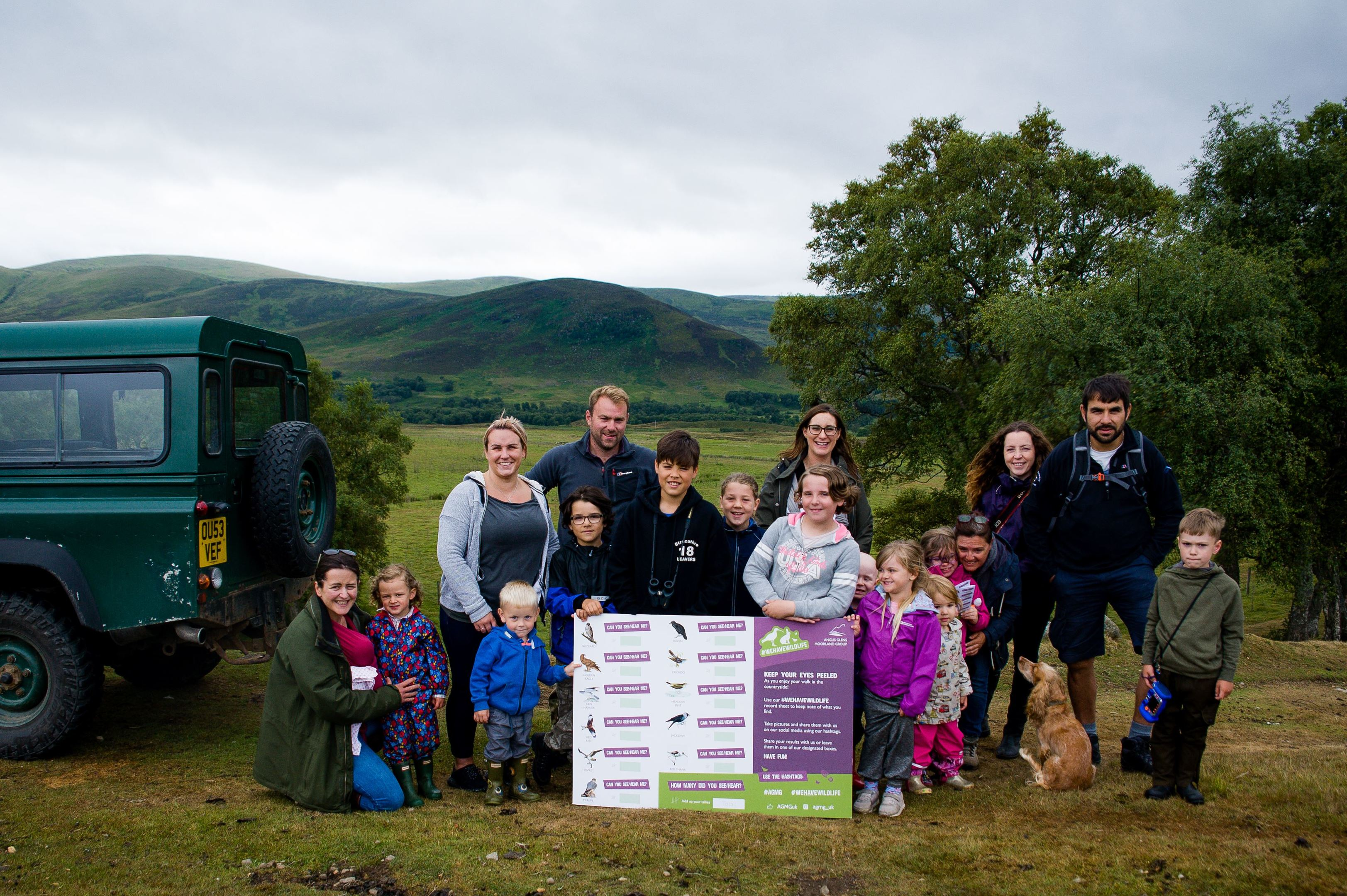 Angus families supporting the We Have Wildlife campaign.